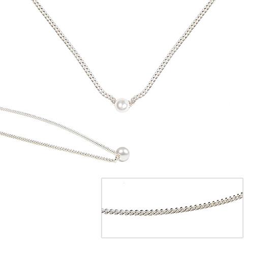 [SILVER925]珍珠银色chocker