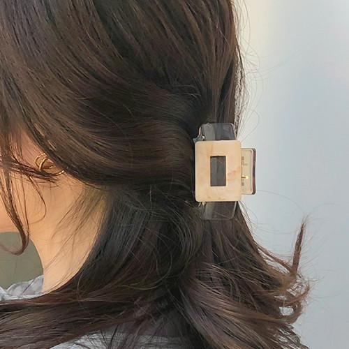 大理石方形发夹