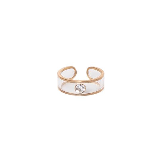 彩色石戒指